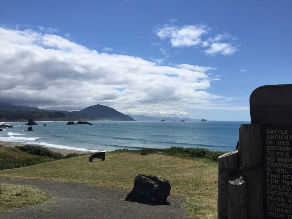 an truly spectacular day at Port Orford, looking south.